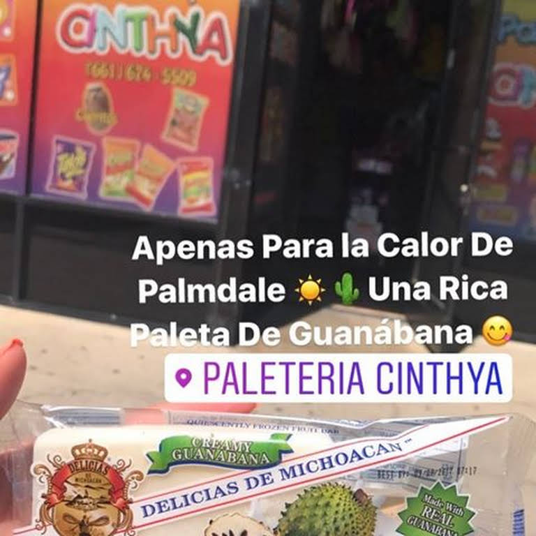 Paleteria Cinthya Ice Cream Shop In Palmdale