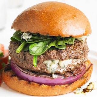 Once You Have A Blue Cheese Stuffed Burger With Spinach You Will Never Eat A Regular Hamburger Again