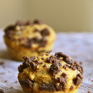 Chocolate Filled Pumpkin Muffins