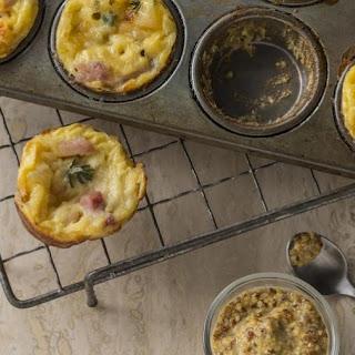 Ham and Swiss Mini-Yorkshire Pudding.