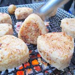Flavored Grilled Onigiri (Rice Balls) using BBQ