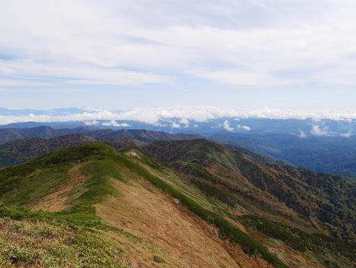 南白山への稜線