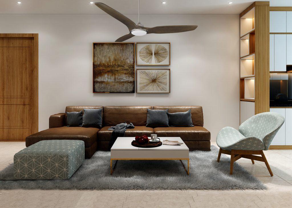 Quạt trần nên lựa chọn phù hợp với không gian kiến trúc