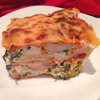 Oven Baked Lasagne with Smoked Trout.