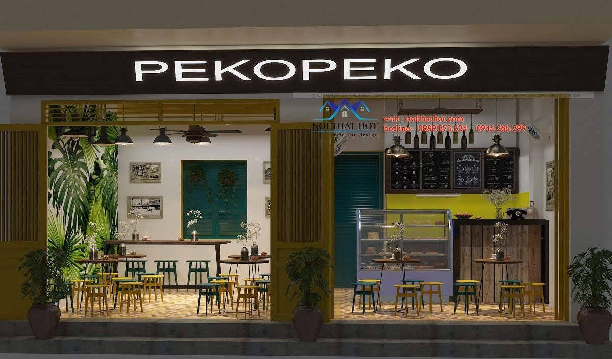 thiết kế quán tào phớ pekopeko 1