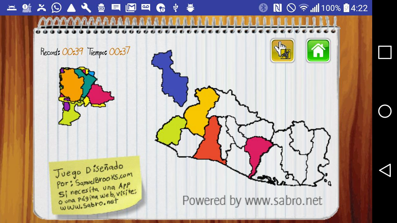 Mapa de El Salvador- screenshot