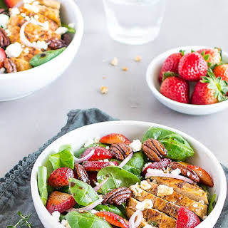 Balsamic Strawberries Chicken Salad.