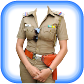 Women Police Dress Hat Sunglass Emoji Photo Suit
