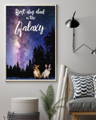 French Bulldog Best Dog Dad In The Galaxy Poster - Cute Poster First Father's Day Gift Ideas