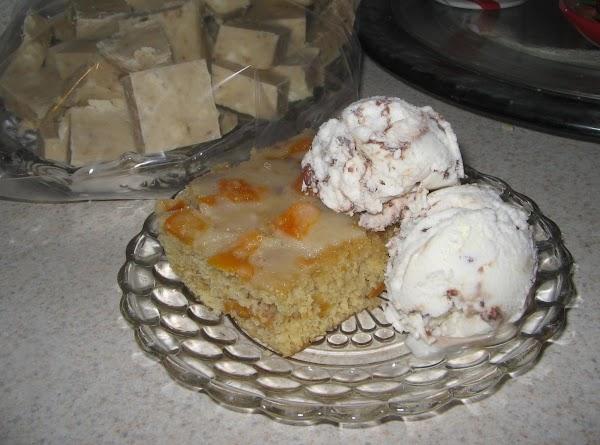 Peachy Glazed Cake/bars Recipe