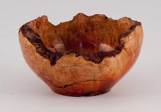 "Photo: Tim Aley - 3"" x 2"" paper clip bowl [manzanita]"
