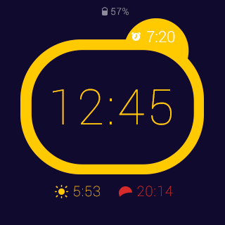 Rooster alarm clock- screenshot
