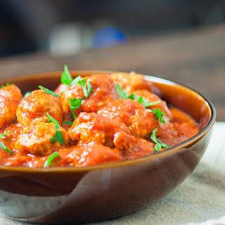 Healthy Turkey Meatballs with Marinara Sauce.
