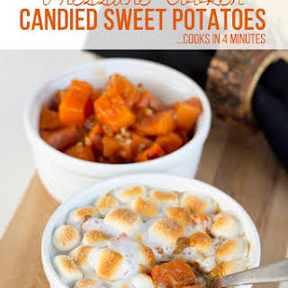 Pressure Cooker Candied Sweet Potatoes — Recipe Card.