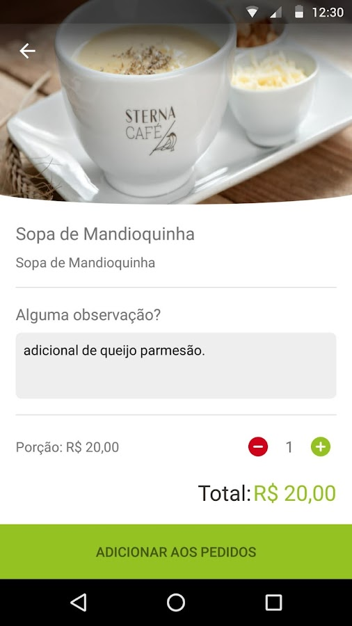 Hand in Food - Cardápio Digital- screenshot