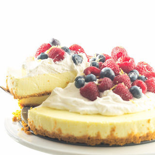 Light No Bake Lemon Cheesecake.
