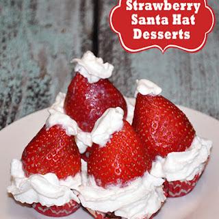 Strawberry Santa Hat Dessert