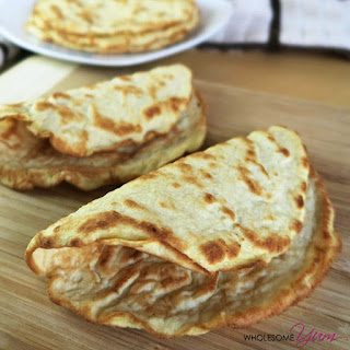 4-Ingredient Coconut Tortillas (Paleo, Low Carb).