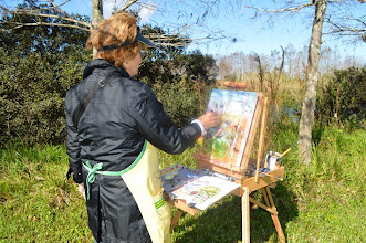 Photo: Dale painting at Loxahatchee