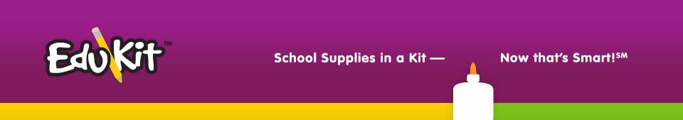 EduKit - school supplies in a kit - now that's smart!