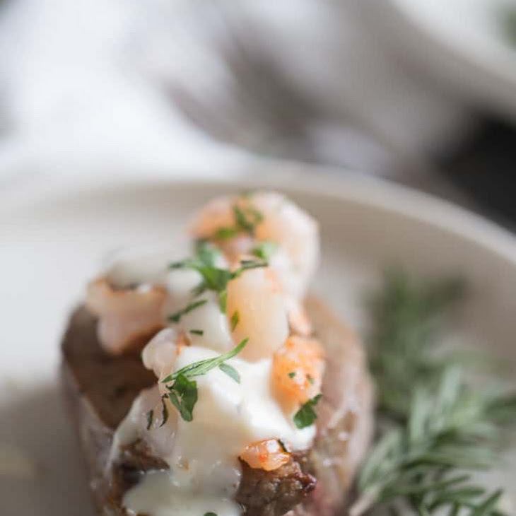 Steak and Shrimp with Champagne Cream Sauce (Surf and Turf) Recipe
