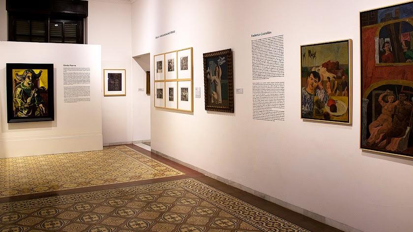 Sala del Museo Doña Pakyta con obras de Castellón y Parra.