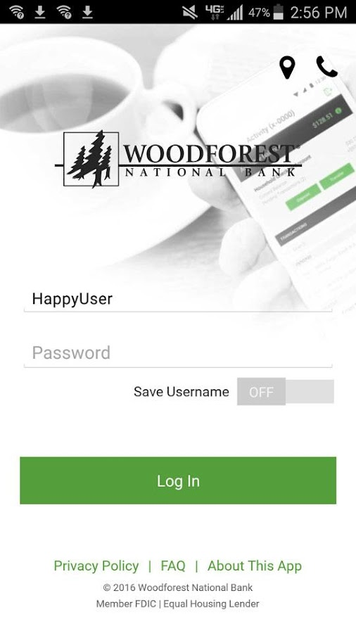 Woodforest Mobile Banking- screenshot