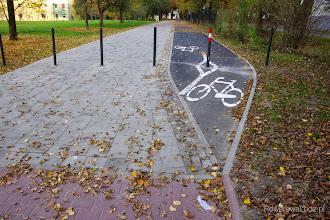 Photo: Początek nowego odcinka drogi dla rowerów