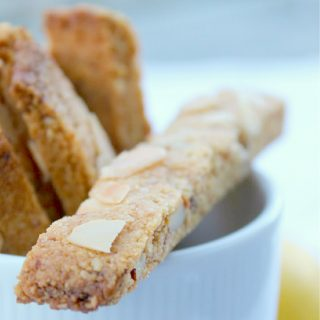 Coconut Flour-Almond Flour Biscotti {paleo with vegan option}.