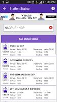 Screenshot of Live Train Status