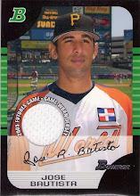 Photo: Jose Bautista 2005 Bowman Futures Game jersey