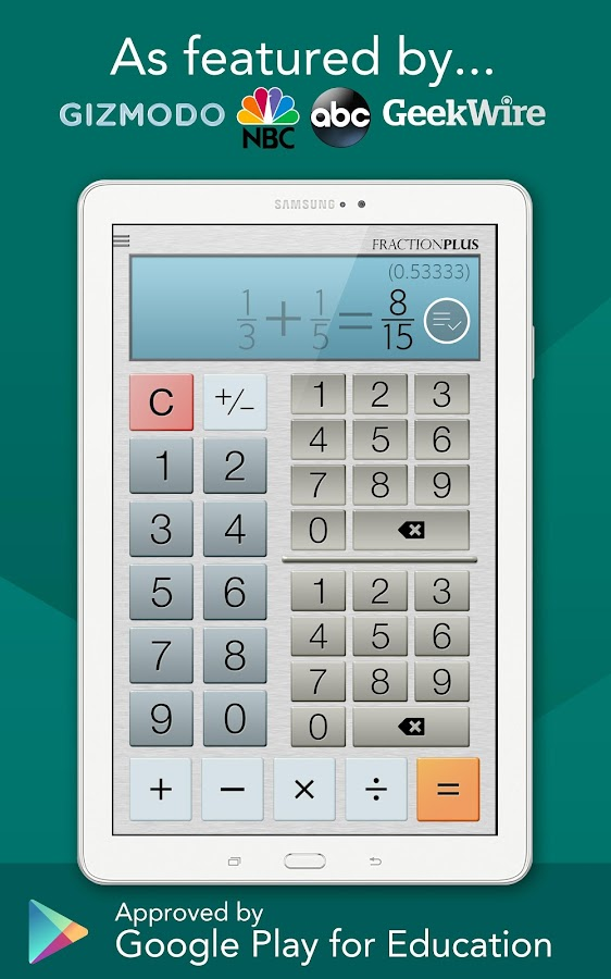 Fraction Calculator Plus Free - Android Apps on Google Play