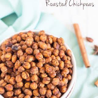Maple Chai Roasted Chickpeas.