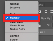 Select Multiply as the Blending Mode