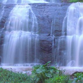 Smoky Water Fall by Saravanan Veeriah - Landscapes Waterscapes ( mountain, waterscape, water fall )