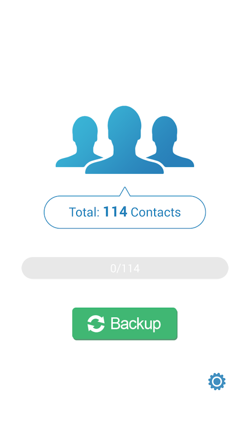 MCBackup - My Contacts Backup- screenshot