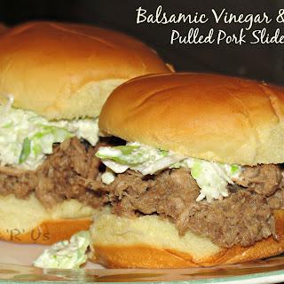 Balsamic Vinegar & Honey Pulled Pork Sliders.