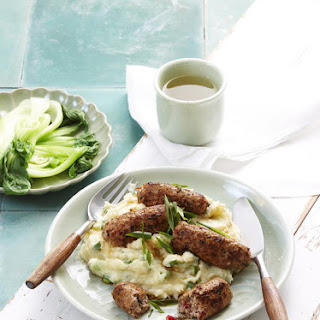 Ginger Sausages with Parsnip-Potato Mash