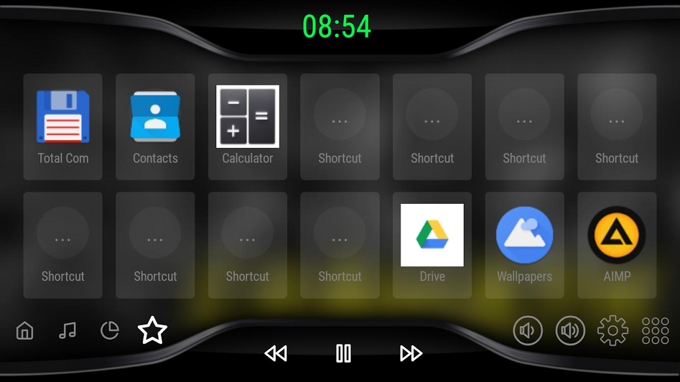 Black V3 - theme for CarWebGuru Launcher – (Android Apps) — AppAgg