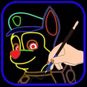 Draw Glow Paw Patrol