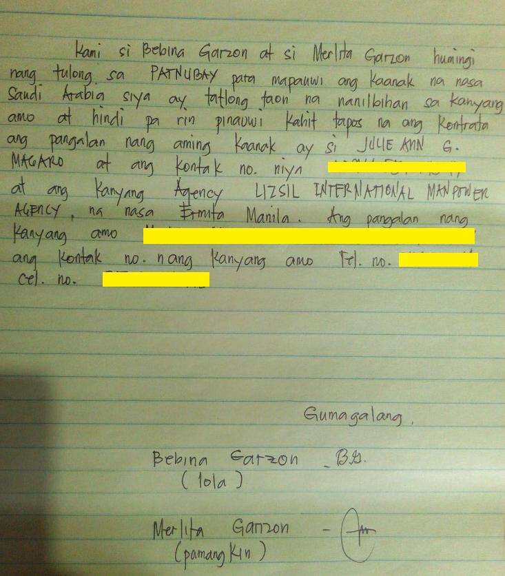 julie anne family letter.png