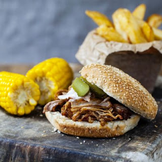 BBQ Pulled Beef Burger.