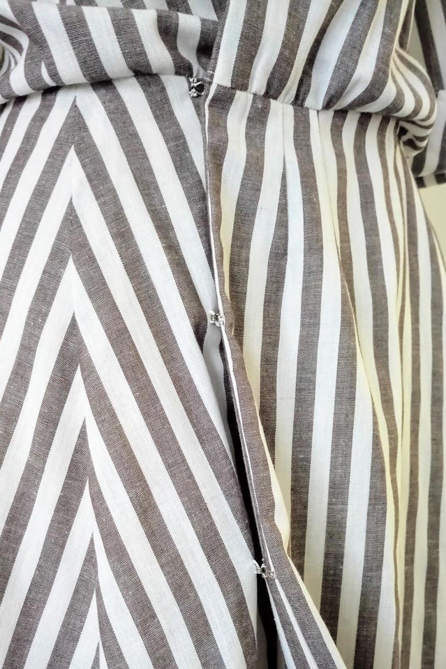 In-Progress: Refashioned Striped Wrap Dress - DIY Fashion project | fafafoom.com