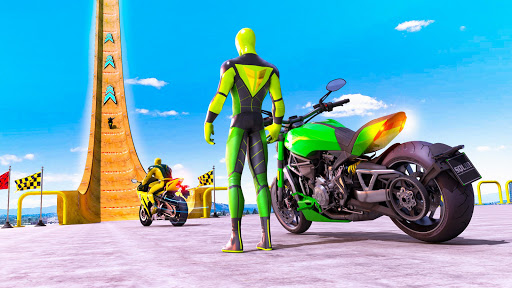 Superhero Bike Stunt GT Racing - Mega Ramp Games 1.4 screenshots 1