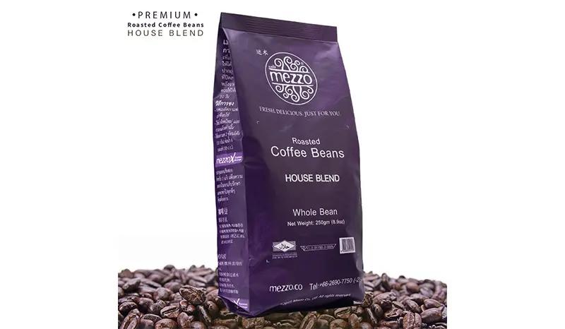 10. Mezzo Coffee Bean Arabica House Blend