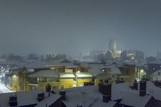 Photo: 02 February 04b Snow scene at night