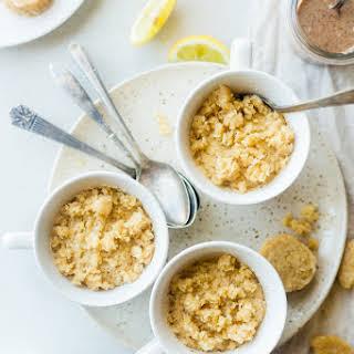 Vegan Mug Cake with Lemon Macaroons.