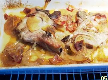 Irish Casserole With    Pork Chops,onions & Apples Recipe