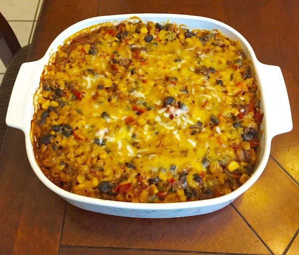 Baked Mexican Chili Mac Casserole Recipe