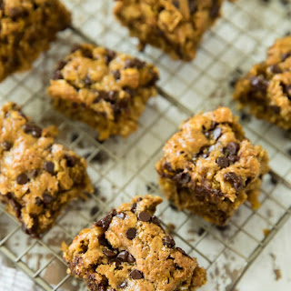Healthy Chocolate Chip Oatmeal Bars.